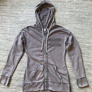 Toms zip up hoodie size S